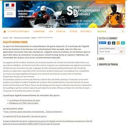 Egalité homme/femme - Sport et développement durable