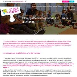 Plan égalité filles/garçons 2018 En Jeux d'Enfance - En jeux d'enfance