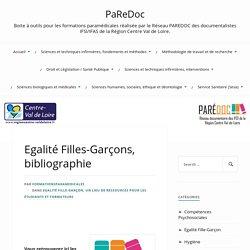 Bibliographie Egalité Filles-Garçons- PaReDoc