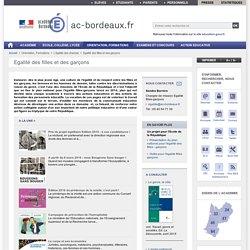 Egalité des filles et des garçons - ac-bordeaux.fr