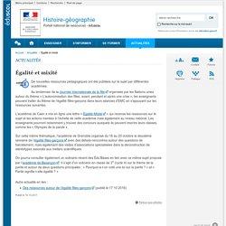 Égalité et mixité-Histoire-géographie-Éduscol