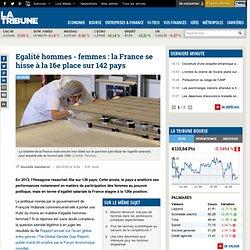 Egalité hommes - femmes: la France se hisse à la 16e place sur 142 pays