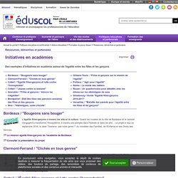 EDUSCOL Initiatives en académies