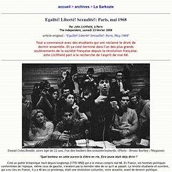 Egalité! Liberté! Sexualité!: Paris, mai 1968