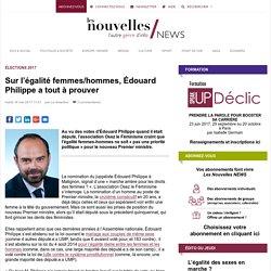 Sur l'égalité femmes/hommes, Édouard Philippe a tout à prouver
