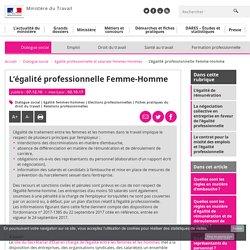L'égalité professionnelle Femme-Homme