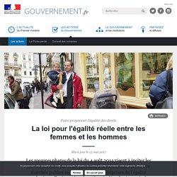 La loi pour l'égalité réelle entre les femmes et les hommes