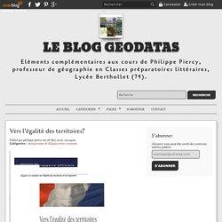 Vers l'égalité des territoires? - le blog geodatas