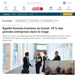 Égalité femmes-hommes au travail. 19 % des grandes entreprises dans le rouge