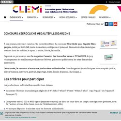 Concours #ZéroCliché #ÉgalitéFillesGarçons- CLEMI