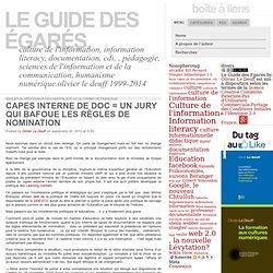 Capes interne de doc = un jury qui bafoue les règles de nomination: