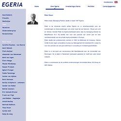 EGERIA Peter Visser