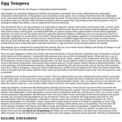 Egg Tempera