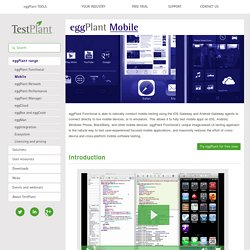 eggPlant Mobile/eggOn: Mobile App Testing for iOS, Android