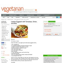 Laotian Eggplant with Tomatoes, Onion, and Mint Recipe