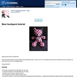 Bear backpack tutorial