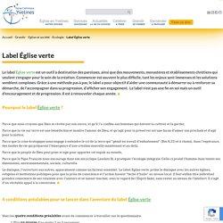 Label Église verte - Diocèse de Versailles