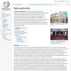 Église spiritualiste/ Wikipedia