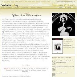Églises et sociétés secrètes