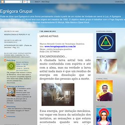Egrégora Grupal: LARVAS ASTRAIS