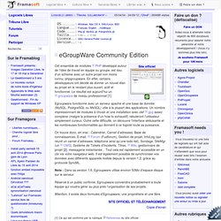 eGroupWare - Travail collaboratif