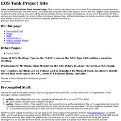 EGS Tank Project Site