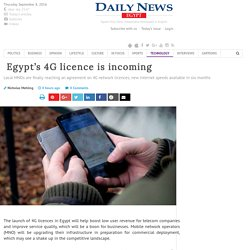 Egypt's 4G licence is incoming