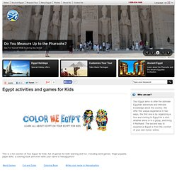 Egypt activities and games for Kids