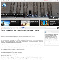 Cross Staff and Plumbline and the Great Pyramid