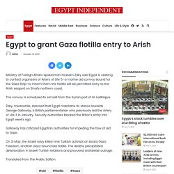 Egypt to grant Gaza flotilla entry to Arish | Al-Masry Al-Youm: Today's News from Egypt