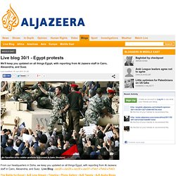 Live blog 30/1 - Egypt protests