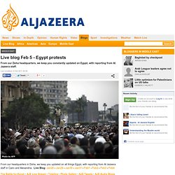 Live blog Feb 5 - Egypt protests