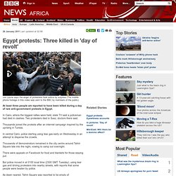 Egypt protests: Three killed in 'day of revolt'