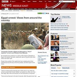 Egypt unrest: Your stories