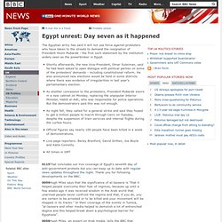 Egypt unrest: Day seven as it happened