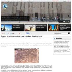 Wadi Hammamat near the Red Sea in Egypt