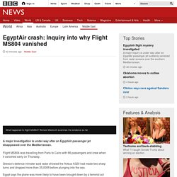 EgyptAir crash: Inquiry into why Flight MS804 vanished