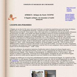 L'Egypte antique, un royaume à l'unité menacée