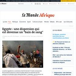 """Egypte : une dispersion qui est devenue un """"bain de sang"""""""