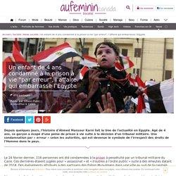 """Egypte : Un enfant de 4 ans condamné à la prison à vie """"par erreur"""""""
