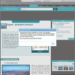 Égypte : géographie physique