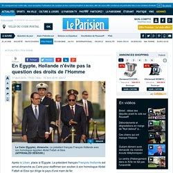 En Egypte, Hollande n'évite pas la question des droits de l'Homme