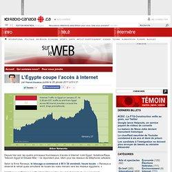 L'Égypte coupe l'accès à Internet