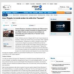 """Avec l'Egypte, le monde arabe à la veille d'un """"tsunami"""""""