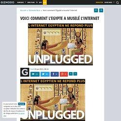 Voici comment l'Egypte a muselé l'internet