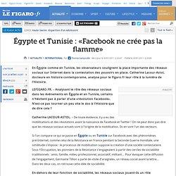 International : Égypte et Tunisie : «Twitter et Facebook ne créent pas la flamme»