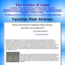 Egyptian High Alchemy: The Center of Light