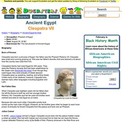 Ancient Egyptian Biography for Kids: Cleopatra VII