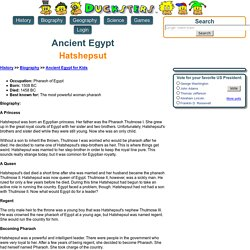 Ancient Egyptian Biography for Kids: Hatshepsut