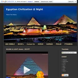 Egyptian Civilization @ Night: May 2011
